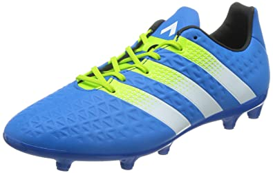 32f5e451 Adidas Men's Ace 16.3 FG/AG Blue, Green and White Football Boots - 9 ...