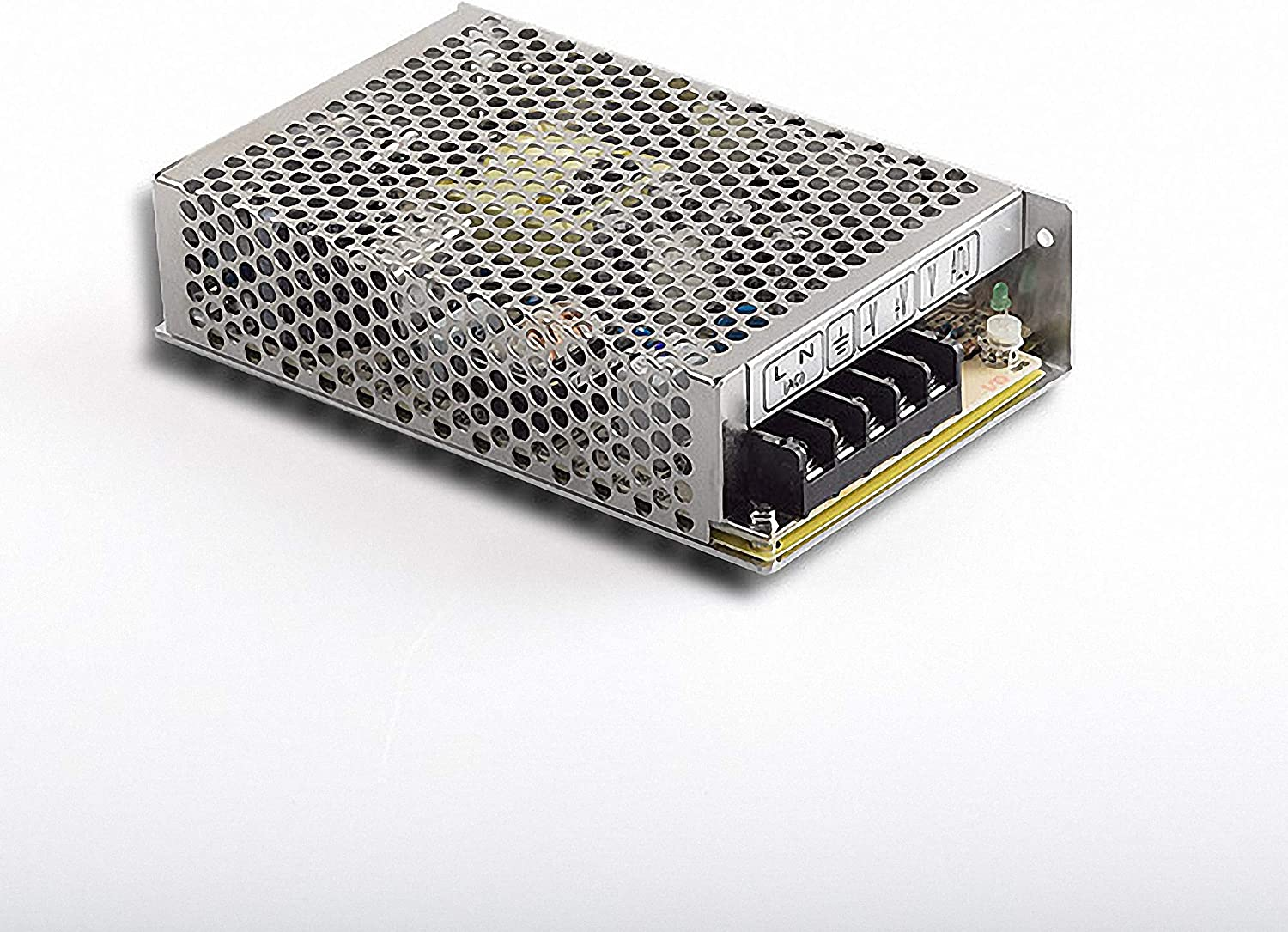 Mean Well RS-75–2476.8W Metallic Power Supply Unit–Power Supply Units (76.8W, 88–264V, 47–63Hz, Active, 16ms, 88.5%)