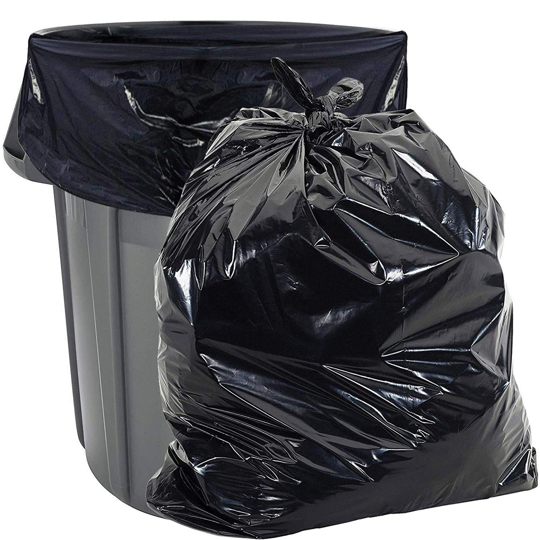 Aluf Plastics-PG6-4060 33 Gallon Trash Bags Heavy Duty - (Huge 100 Pack) - 2.0 MIL - 33