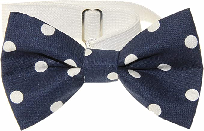 Boys Youth White /& Black Chemistry Pre-Tied Cotton Adjustable Bow Tie
