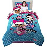 Franco Kids Bedding Super Soft Comforter with Sheets and Plush Cuddle Pillow Set, 5 Piece Twin Size, LOL Surprise!