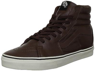 vans sk8 hi aged brown leather