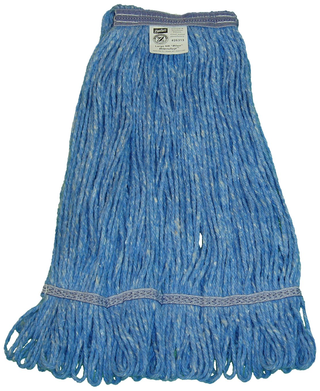 Zephyr 26314 Blendup Blue Blended Natural and Synthetic Fibers X-Large Loop Mop Head with 1-1/4'' Narrow Headbands (Pack of 12) by Zephyr (Image #1)