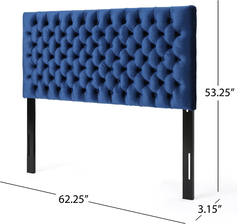 Navy Blue//Black Steel Christopher Knight Home 303582 Jezebel Headboard