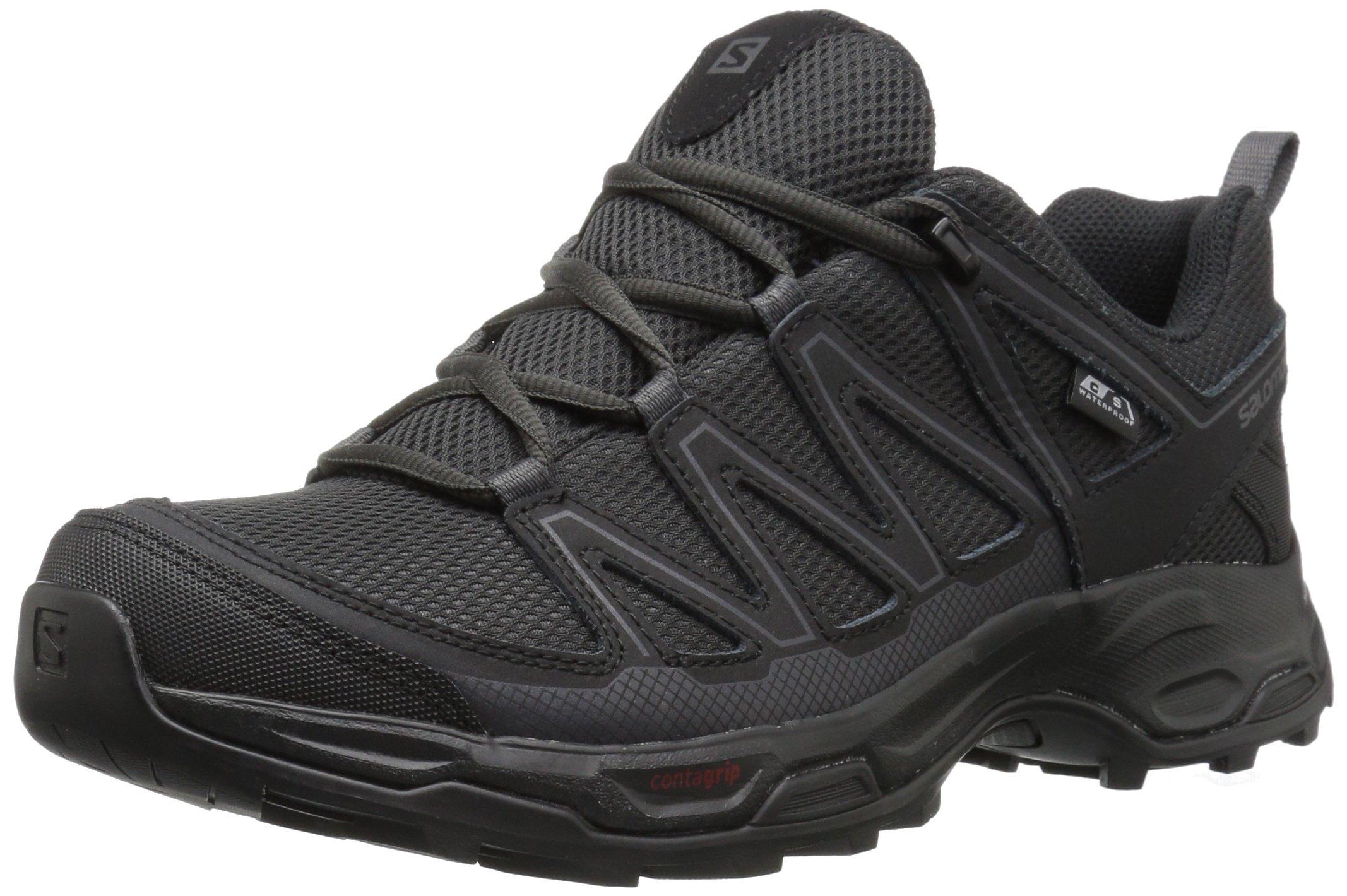 SALOMON Men's Pathfinder CSWP Hiking Shoes, Phantom/Black/Magnet, 11 by SALOMON