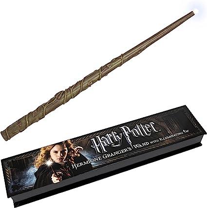 Noble Collection- Réplica Harry Potter Varita Hermione Granger con luz, Multicolor (NOB8028)