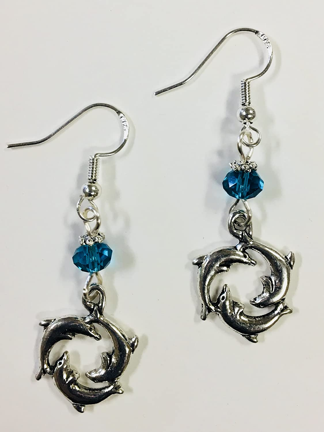 Circle of Dolphin Sealife Earrings, perfect for the beach and marine lover! Delta Delta Delta mascot
