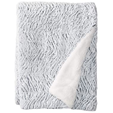 HoroM Soft Cozy Fluffy and Warm Sherpa Blanket Throw Blankets for Bed or Couch (60  x 80 , Snowy River)