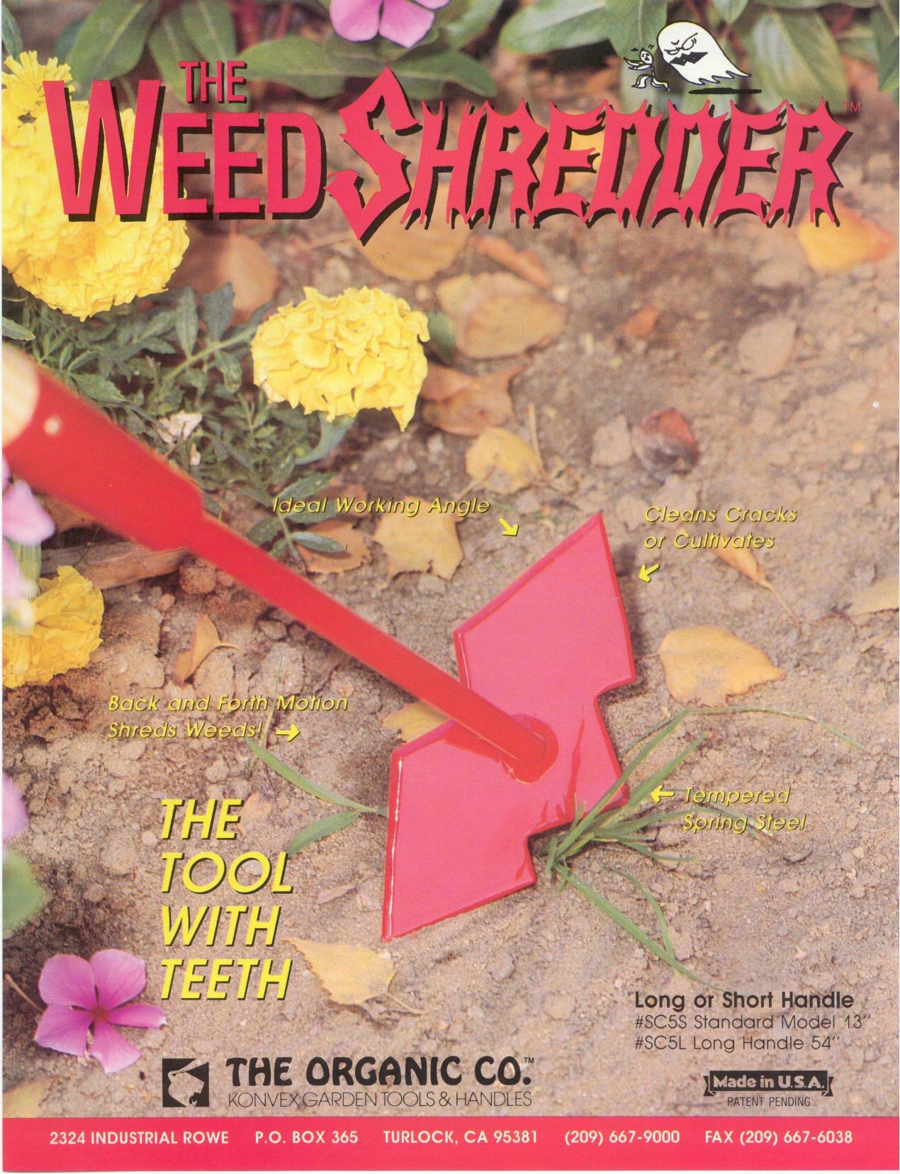 Weed Shredder Short and Long Handle Hoe (Short Handle 13 inch)