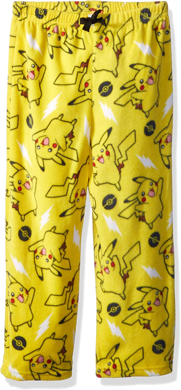 Pokemon Pikachu Boys Plush Fleece Lounge Pajama Pants