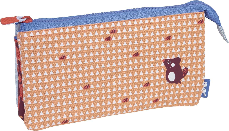 Milan Portatodo 5 Compartimentos Net&Lit Estuches, 22 cm, Rosa: Amazon.es: Ropa y accesorios