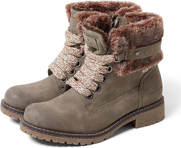 Tom Tailor Damen Stiefel Boots Winterschuhe 5890105 Grau Neu