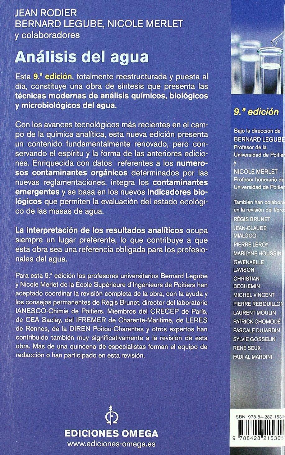 ANALISIS DEL AGUA 9. ED. [Aug 31, 2009] RODIER, JEAN: J ...