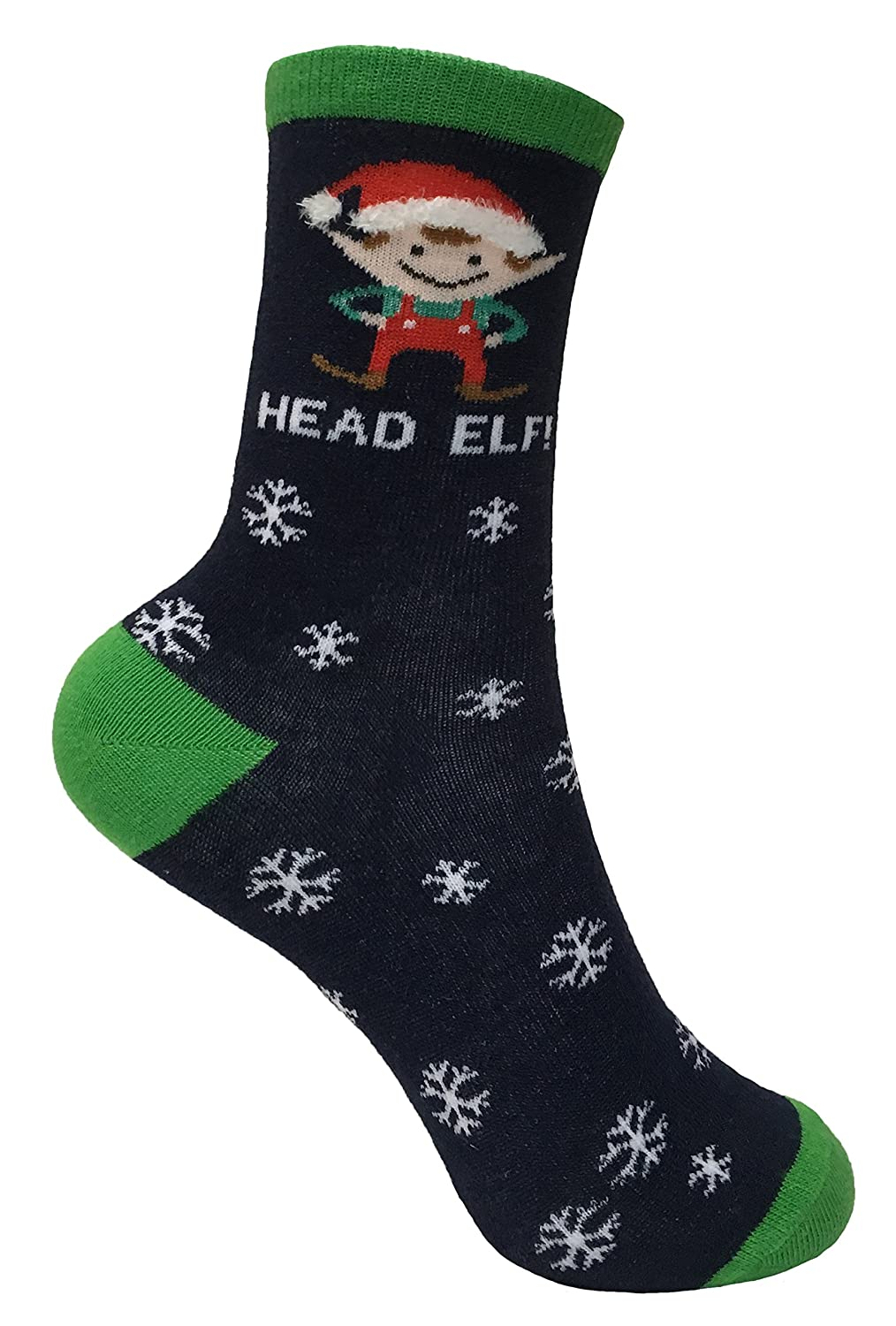Kids//Childrens 4 Pack Thin Colourful Fun Cotton Rich Novelty Xmas Christmas Socks 3 Sizes