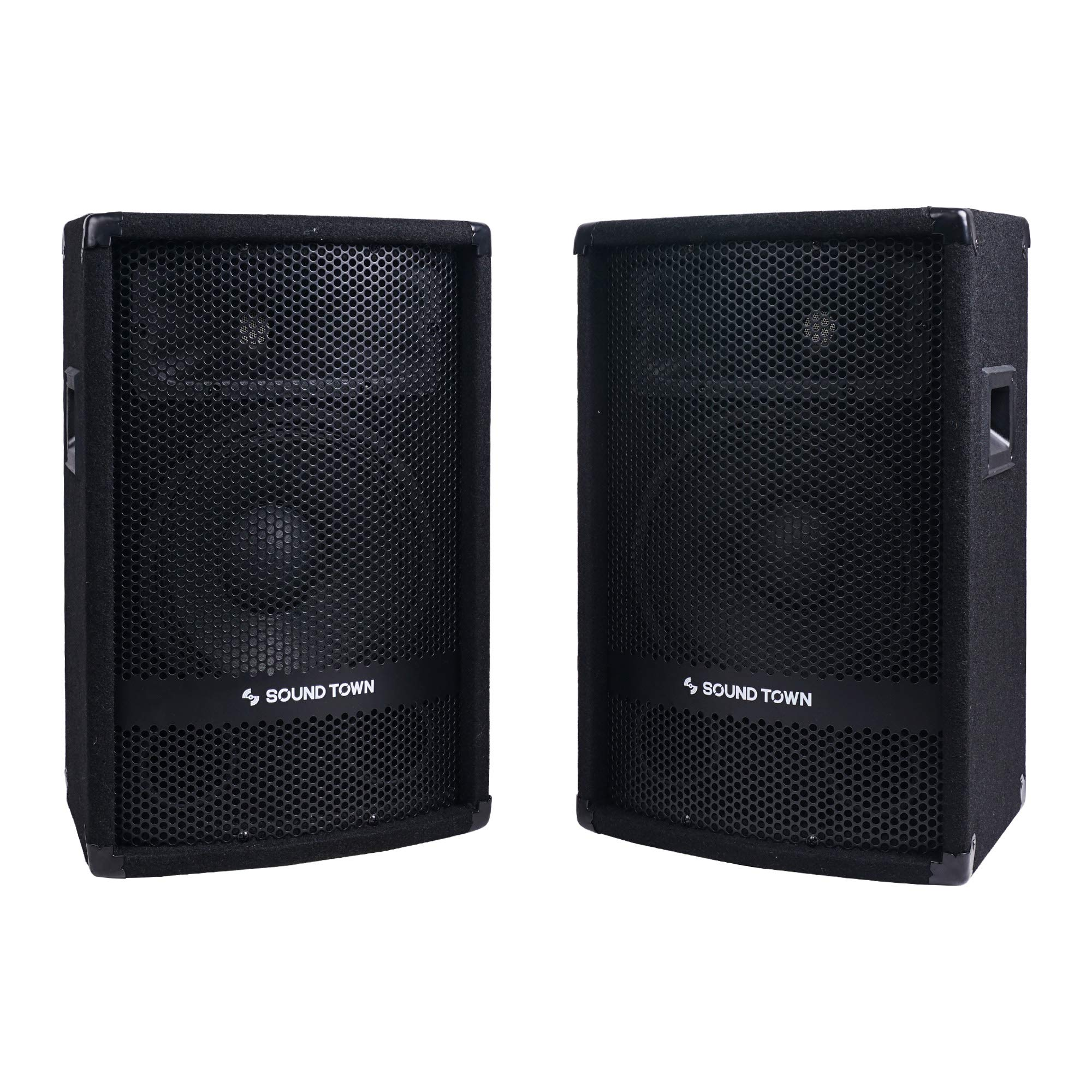 Sound Town 2-Pack 10'' 400 Watts Passive DJ/PA Speakers with Compression Drivers for Live Sound, Karaoke, Bar, Church (METIS-110-PAIR) by Sound Town