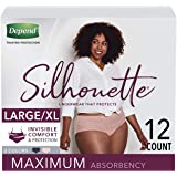 Depend Silhouette Incontinence Underwear for Women, Maximum Absorbency, L/XL, Pink & Black, 12 Count