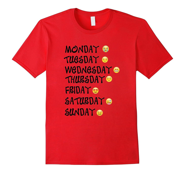 Emoji T-Shirt Love Your Emoticon Shirt 7 Days A Week-TD