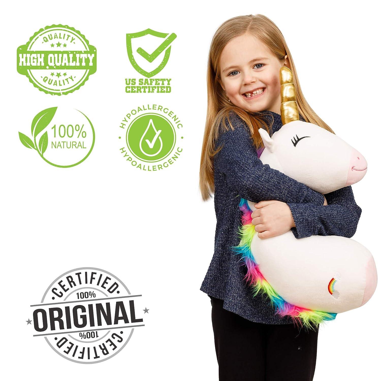 Child Car Stuffed Plush Animal Travel Pillow Seatbelt Pillow for Kids Travel Safety Belt Strap Cover Shoulder Pad,Children Adult Head Neck Unicorn /& Llama Seat Belt Cover /& Cushion Pillow