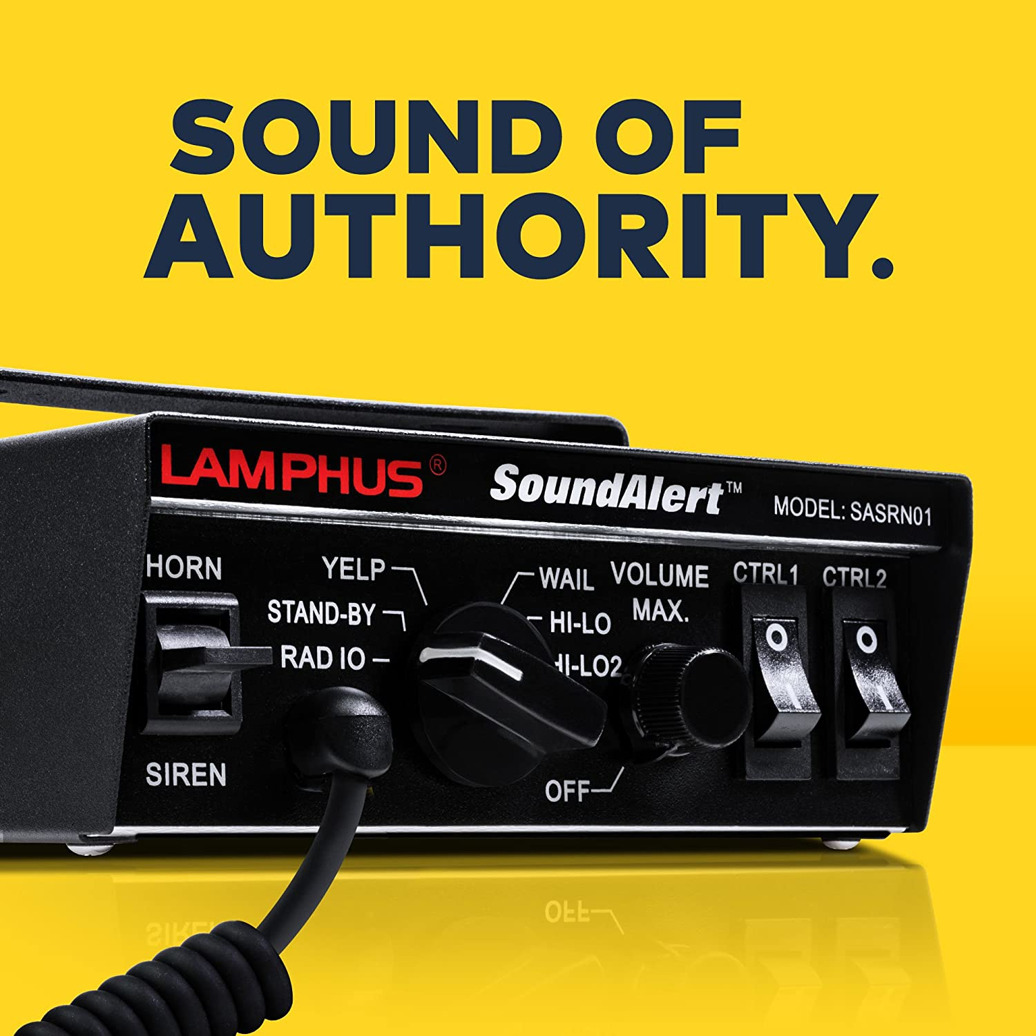 Lamphus Soundalert Siren Speaker Pa System 100w 6 Carbon Microphone To Magnetic Mike Mic Converter Circuit Modes Heavy Duty 120 130db Hands Free Dual 20a Switches Emergency