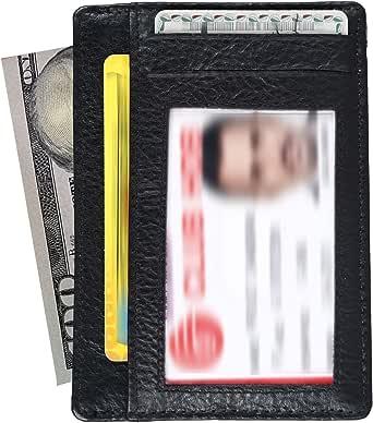 Luxe Leather Front Pocket Slim Minimalist RFID Blocking Wallet for Men & Women