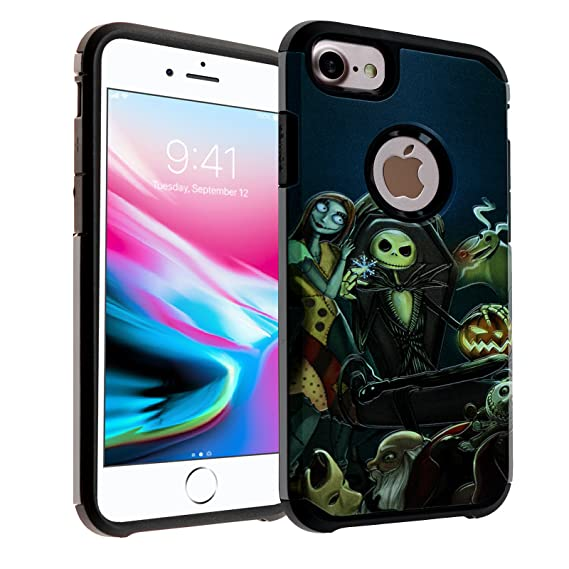 Nightmare Before Christmas Phone Case.The Nightmare Before Christmas Iphone 8 Case Imagitouch 2 Piece Style Armor Case With Flexible Shock Absorption Case Cover For Iphone 8 Nightmare