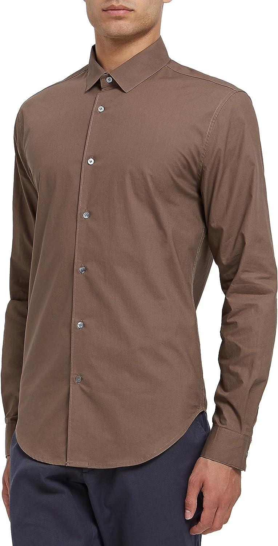 ENLIST - Camisa casual - Clásico - para hombre marrón marrón ...