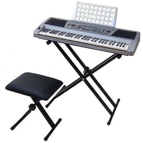 Teclado 61 teclas DynaSun MK939 LCD MIDI Respuesta Táctil Pitch Bend Keyboard E-Piano Electronico