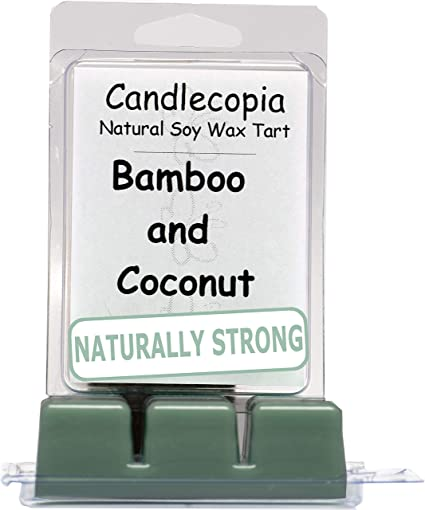 Paraffin-free Soy Wax All Natural Sustainable Coconut Bamboo Soy Wax 3oz Clamshell Hand-poured Artisan Wax