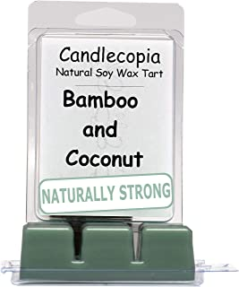 product image for Candlecopia Bamboo & Coconut Strongly Scented Hand Poured Vegan Wax Melts, 12 Scented Wax Cubes, 6.4 Ounces in 2 x 6-Packs