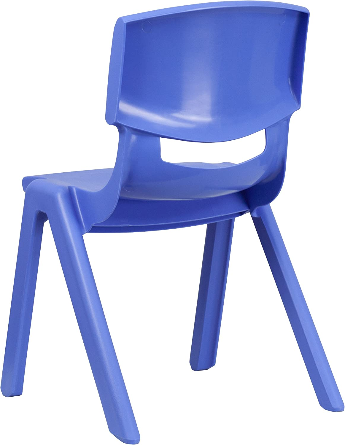 Red Plastic Stackable School Chair with 15.5 Seat Height Flash Furniture 5 Pk