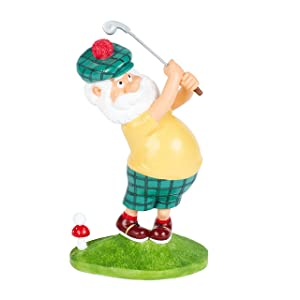 "Dawn & Claire Gnolan The Gnine Iron Gnome A Garden Gnome Who Thinks He's a Scratch Golfer! (Mini - 6.5"")"