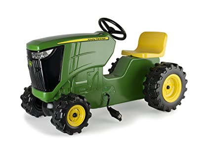 TOMY John Deere Pedal Tractor Green | Pedal Powered Ride-on Toy Tractor |  Outdoor Fun For Toddler Boys and Girls | Inspire Creative Play with this