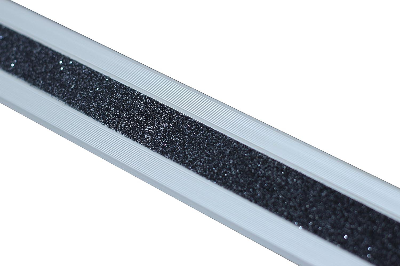 Antideslizante Escaleras borde Perfil Aluminio M2 Glitter Grip Negro 53 x 610 x 31 mm), ATM8SF2sk: Amazon.es: Bricolaje y herramientas