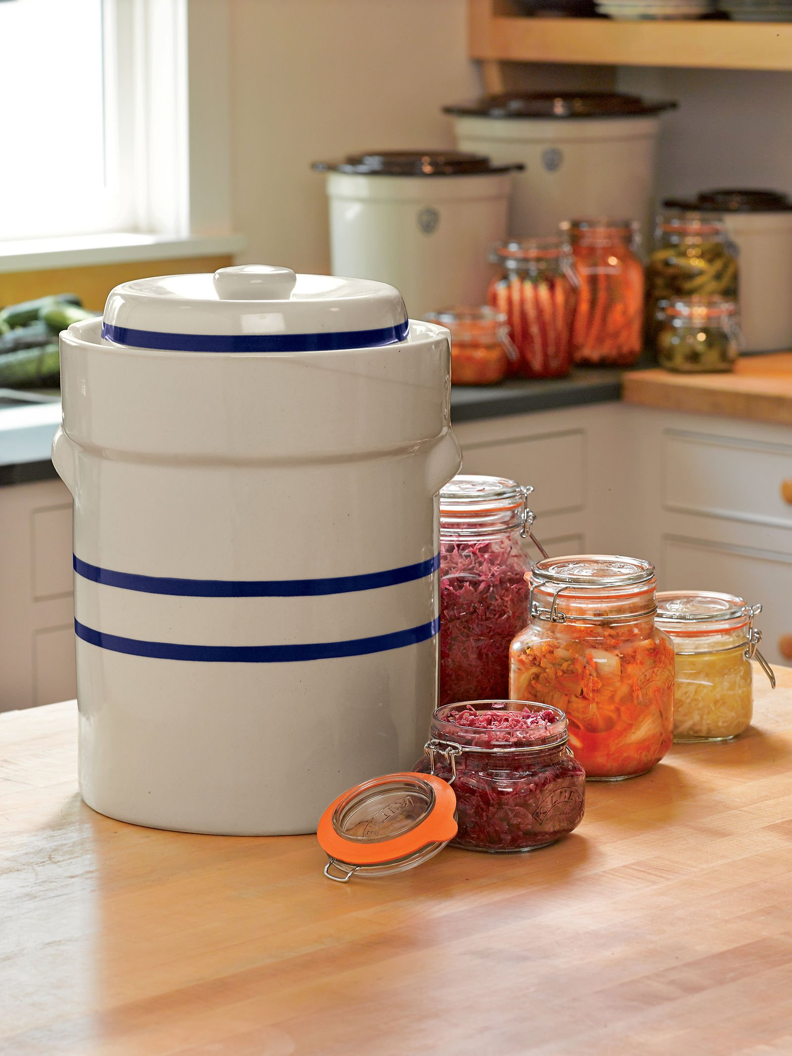 Ohio Stoneware 3 Gallon Fermentation/Preserving Crock Set - Great for Pickling and Sauerkraut!! by OHIO STONEWARE (Image #2)