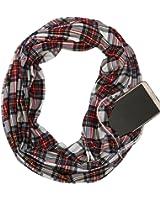 Zipper Pocket Women Infinity Scarf –Spring Summer Scarf, Soft Lightweight Jersey