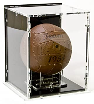 Mini-fútbol expositor con Base negra y negro back-panel: Amazon.es ...