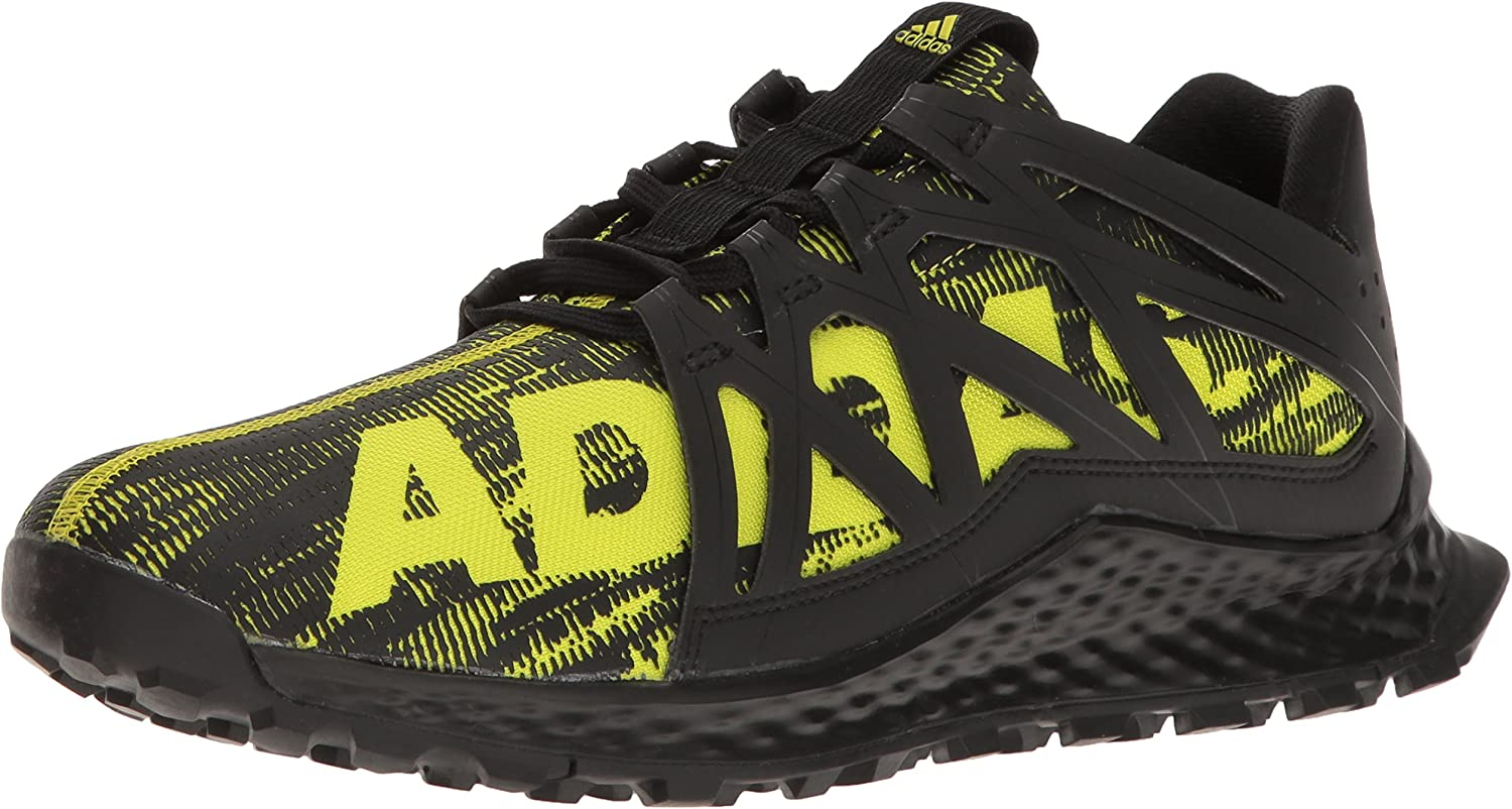 adidas Mens Vigor Bounce m Trail Runner, Shock Slime/Black, 8 M ...