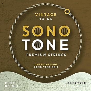 Sonotone Vintage cuerdas para guitarra eléctrica 10 - 46: Amazon.es: Instrumentos musicales