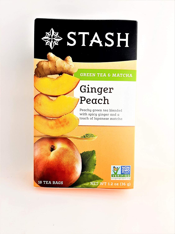 Stash Tea Green Ginger Peach Matcha (Pack of 2)