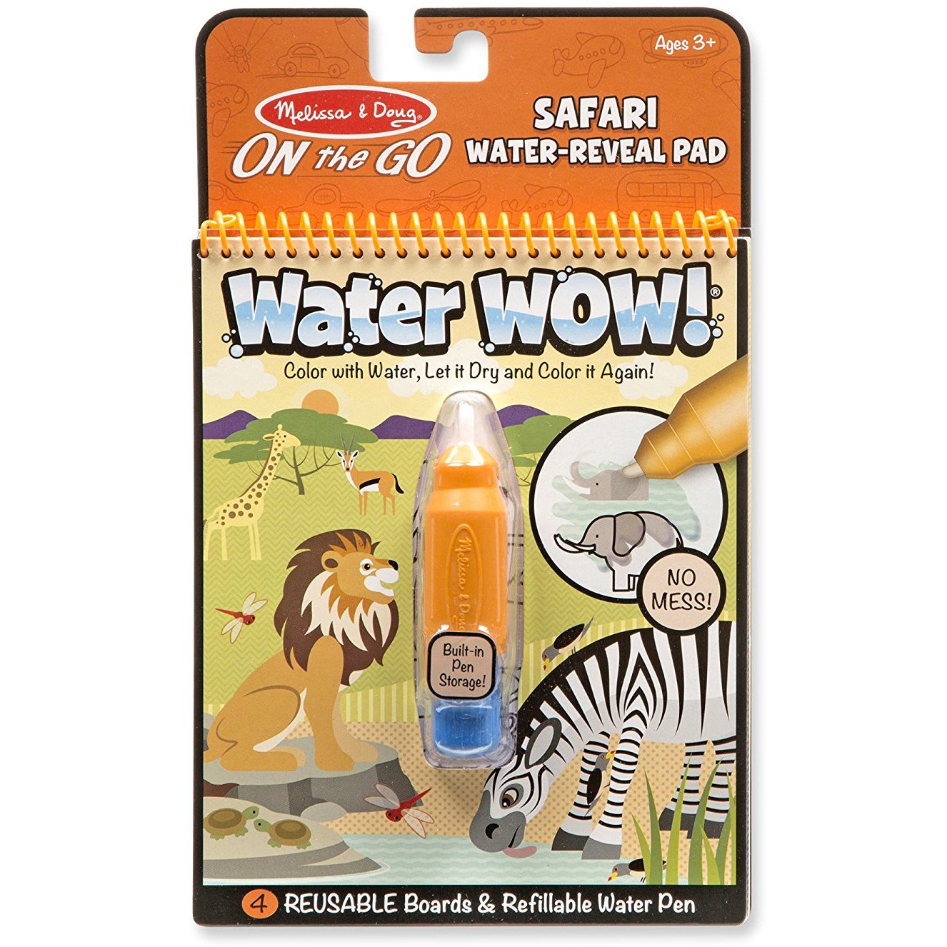 Melissa & Doug Safari: ON the GO Water-Reveal Activity Pad + 1 Scratch Art Mini-Pad Bundle (#09441)