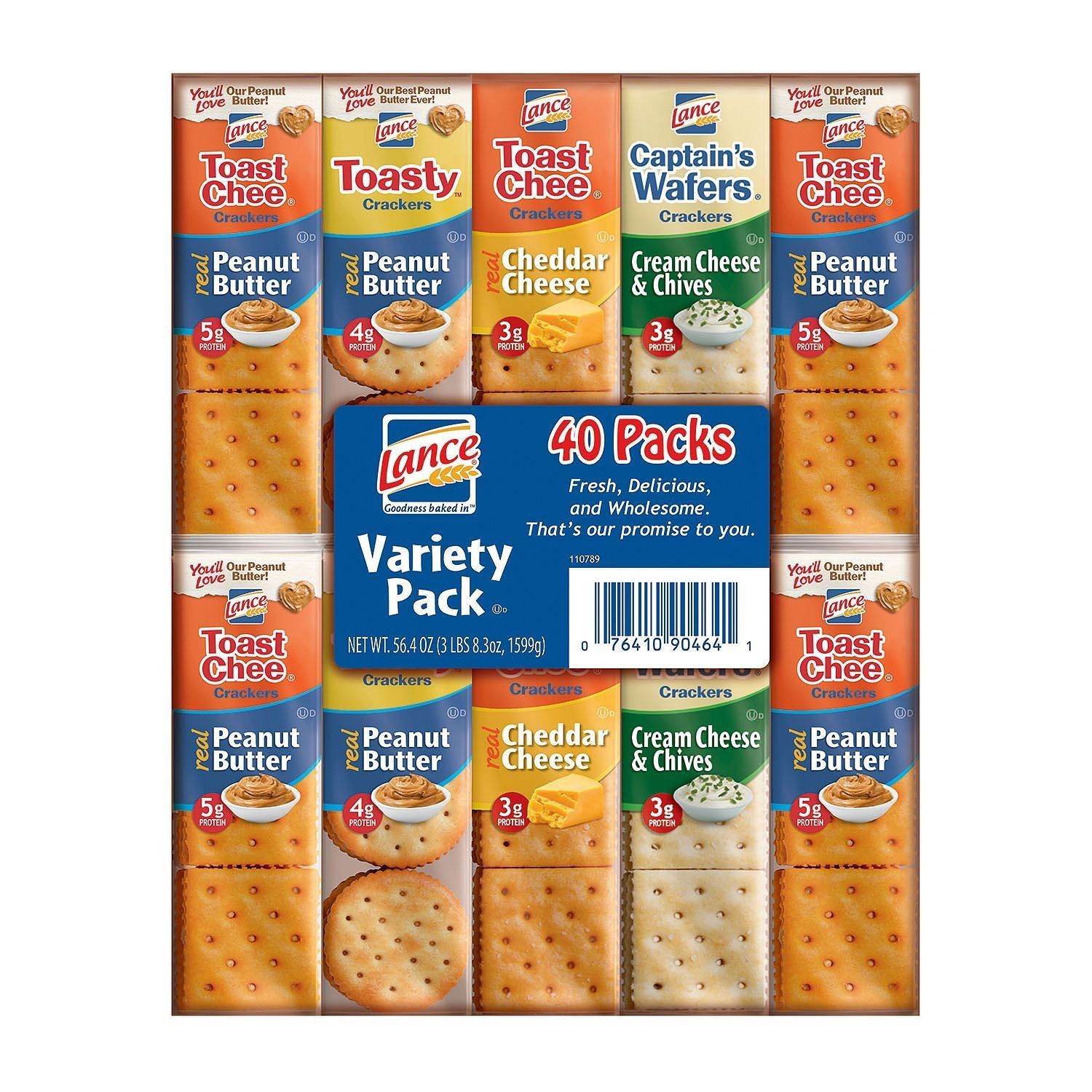 Lance Variety Pack,40 count, (56.8 oz total weight) by Lance