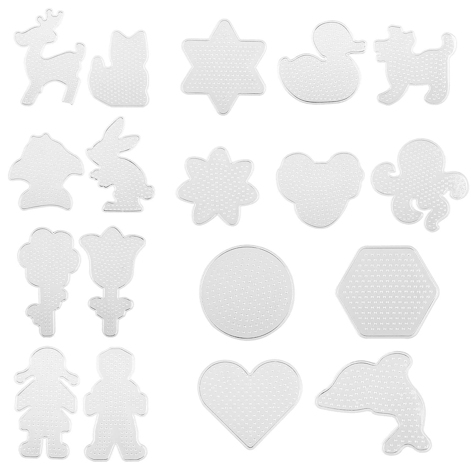 Kare /& Kind Fuse Beads Pegboards Kids DIY Arts and Craft Activities 19 pcs Reusable Ironing Paper and Tweezers Also Includes Colorful Card Templates