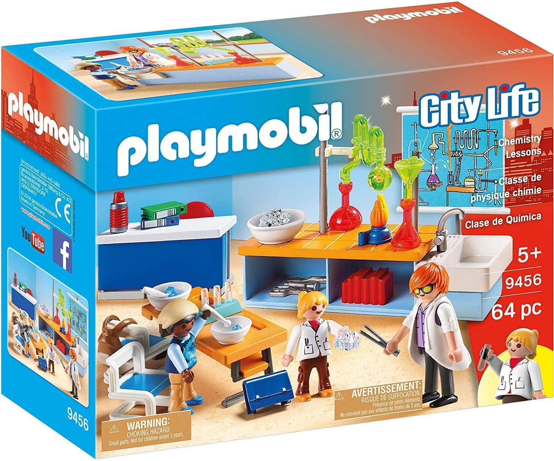 PLAYMOBIL City Life Clase de Química, a Partir de 5 Años (9456 ...