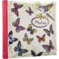 Arpan Cream Photo Album Large Slip In Album 200 Holds 6 x 4'' - Vintage Butterfly