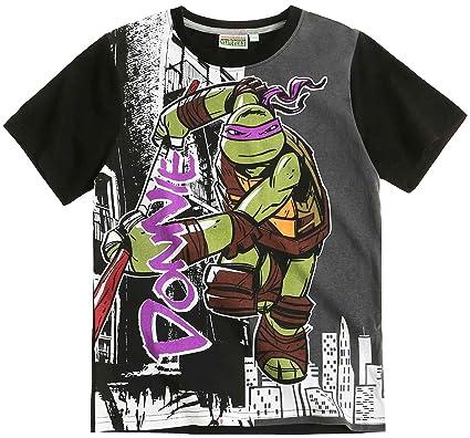 c6ff18127c1cd Tortues Ninja Tee shirt manches courtes enfant garçon Noir/gris 6 à 12 ans (
