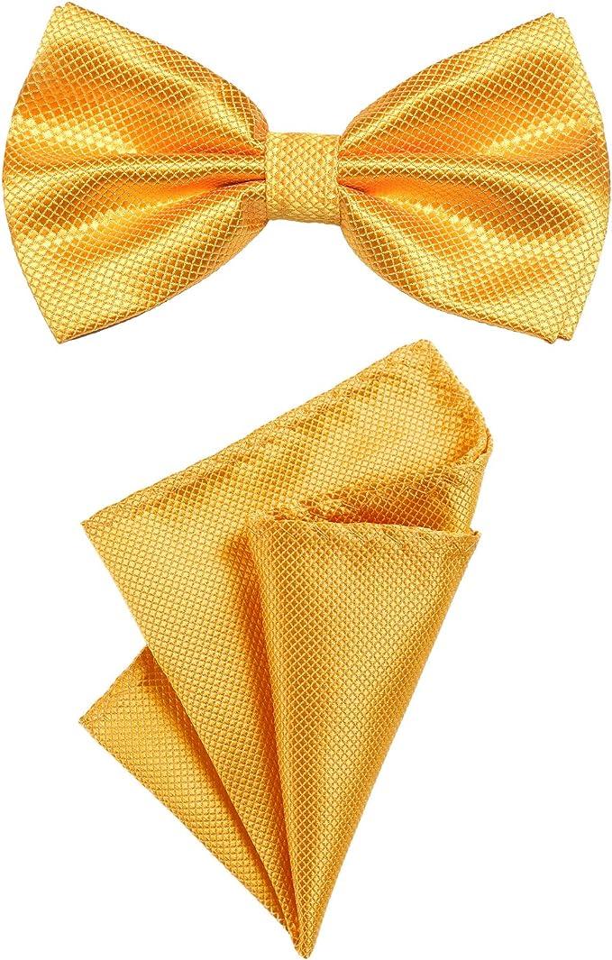 DonDon Set para hombres compuesto por un pañuelo y una pajarita a ...