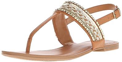 Fergalicious Women's Frazzel Flat Sandal, Tan, ...