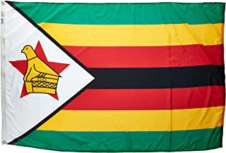 product image for Annin Flagmakers Model 199516 Zimbabwe Flag Nylon SolarGuard NYL-Glo, 4x6 ft, 100% Made in USA to Official United Nations Design Specifications