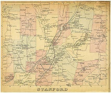 Amazon.com: Historic 1876 Map | Stanford [Township] | Dutchess ...