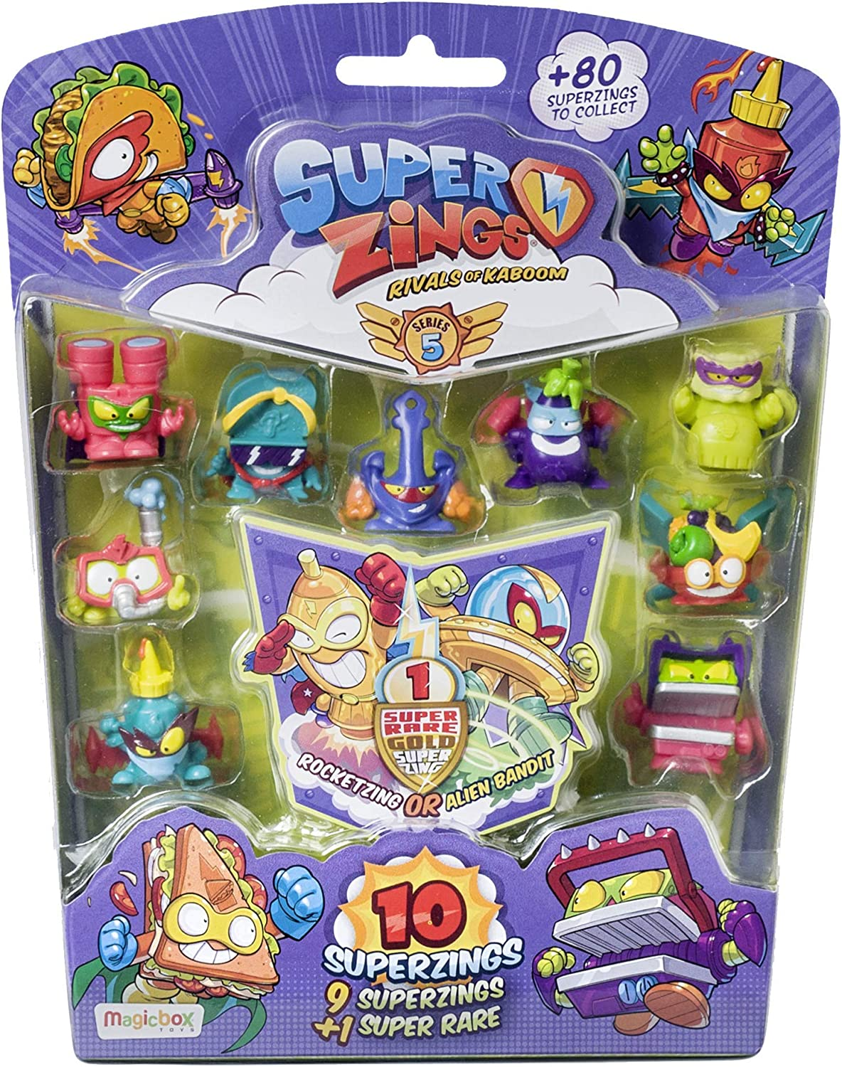 Súperzings- Blíster 10 Serie 5 Figuras coleccionables, Multicolor (Magic Box PSZ5B016IN00): Amazon.es: Juguetes y juegos